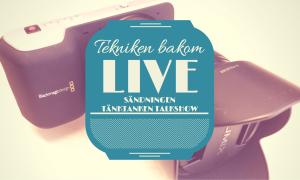 Tekniken bakom live-sändningen Tänktanken Talkshow