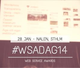 #WSAdag14 – Web Service Awards